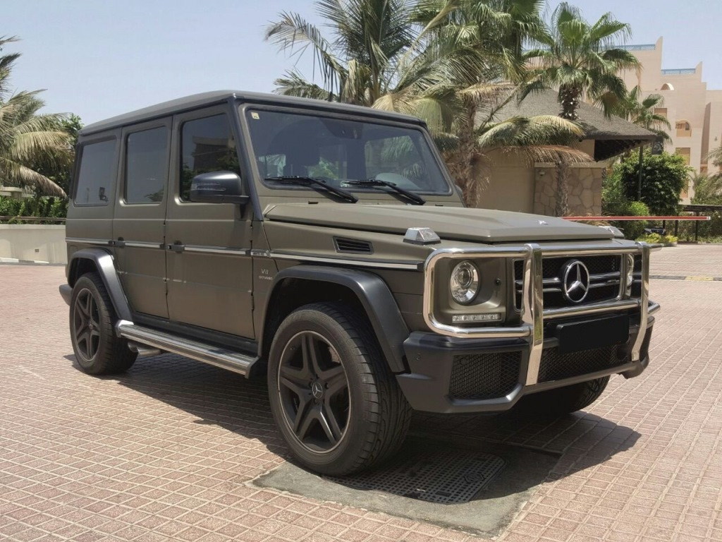 Rent now this Mercedes G63 AMG 2016 model in Dubai at #CarHire24